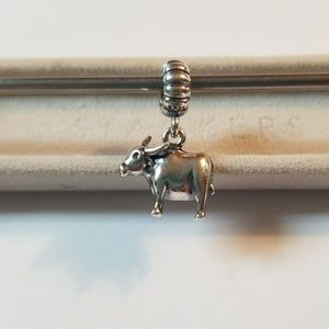 Authentic Pandora Ox Dangle Charm Sterling Silver
